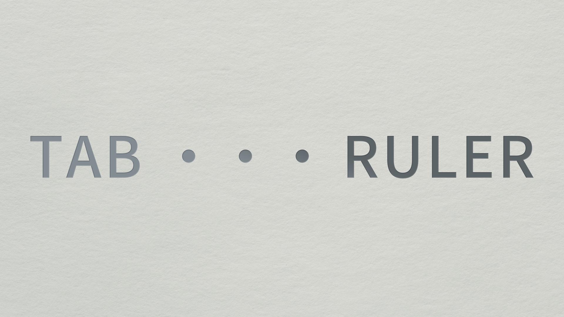 イラストレータでメニュー表や目次を作るときに便利なタブルーラー機能